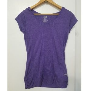 AVIA Workout Active purple shirt hoodie